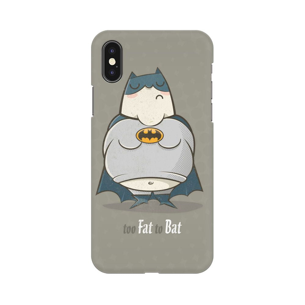 Too Fat To Bat Apple iPhone X Mobile cover