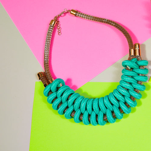 Green rope collar necklace — Ordinary Luminary