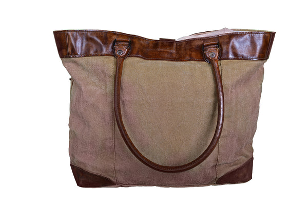 STAR CANVAS LEATHER HAND MADE BAG - decorstore