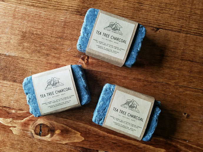 Tea Tree Charcoal Soap Bars