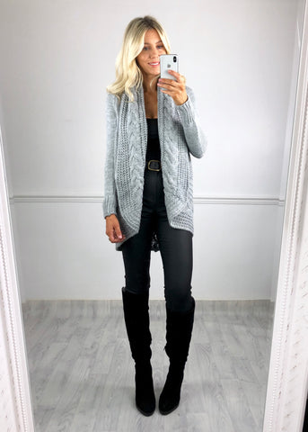 Carlie Cable Knit Cardigan
