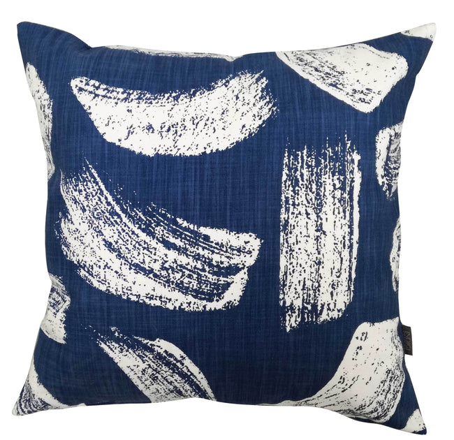 Brushstrokes Indigo Cushion Cover