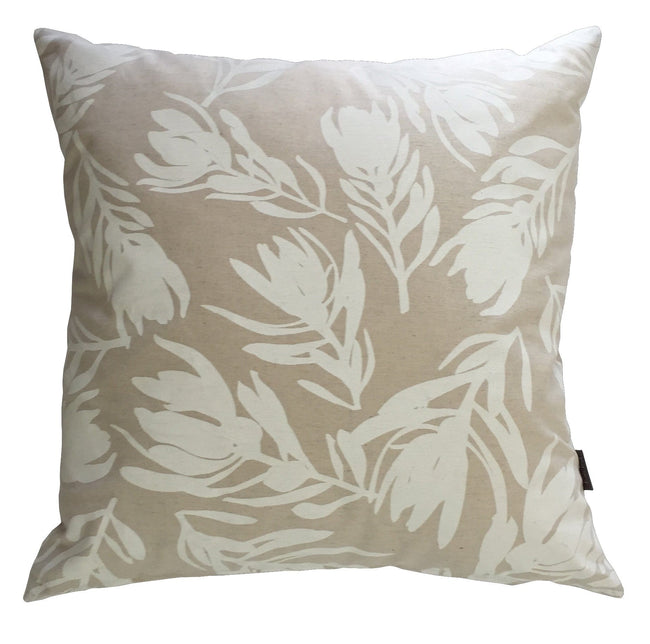 Conebush White Cushion Cover