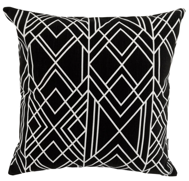Deco (Large Design) Black Cushion Cover