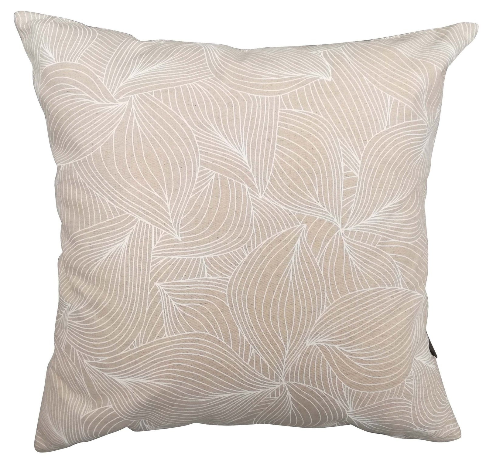 Lilium White on Natural Cushion Cover