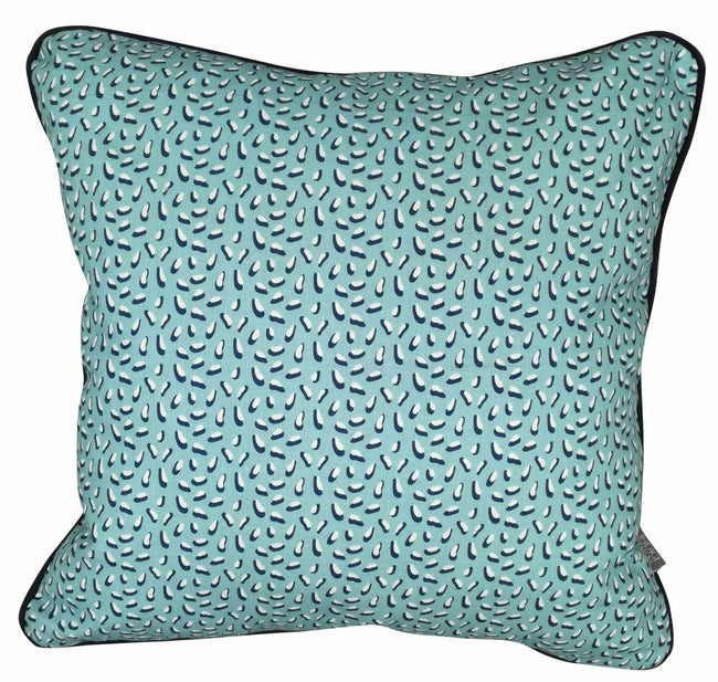 Digital Memphis Mint Cushion Cover with Piping
