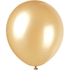 Gold Pearlized Latex Balloons 12in, 8ct
