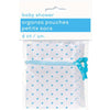 Blue Polka Dots Organza Favor Bags, 6ct
