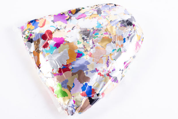 1kg bag of metallic butterfly confetti