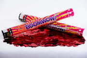 Red love heart metallic confetti cannon launcher/popper