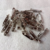 50pcs Safety Pins Brooch  base Jewelry Findings Accessory Making diy Jewelry Accessories Clothing Supplies