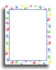 Baby Handprints Stationery