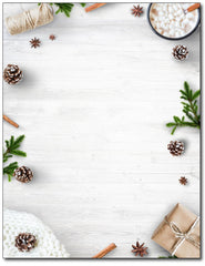 White Christmas Elements Stationery
