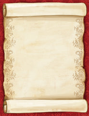 Holiday Stationery - Christmas Scroll - (Matte: 60lb Text)