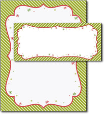 Peppermint Twist Letterhead & Envelopes - 40 Sets, compatible with inkjet and laser