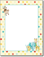 Baby Zoo Animals Stationery - 80 Sheets