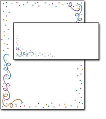 party elements letterhead stationery paper sheets envelopes set combo