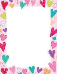 Dancing Hearts Stationery - 80 Sheets