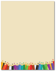 Education Stationery - Back to School - 60lb Text