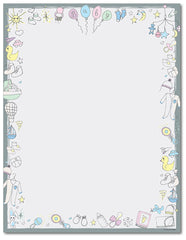 Baby Shower Letterhead - Baby Time - 60lb Text