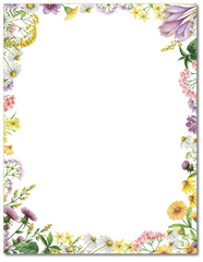 Flower Stationery - Floral Meadows - 60lb Text