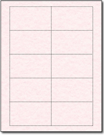 65lb Microperforated  Pink Parchment Business Cards - printable on both sides