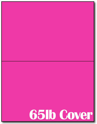 "2  Jumbo Microperforated Bright Fuchsia Postcards on an 8 1/2"" x 11"" Sheet."