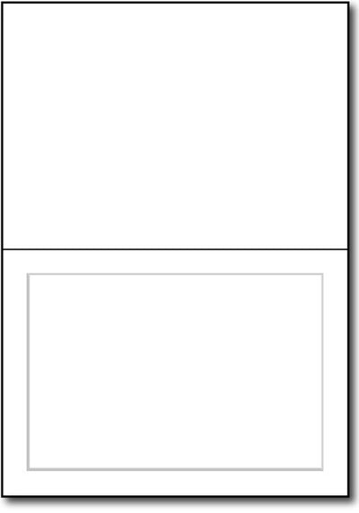 "65 lb White Panaled Greetng card, size A6 measure(6 1/4"" x 9 1/4""), compatible with copier, inkjet and laser, matte both sides"