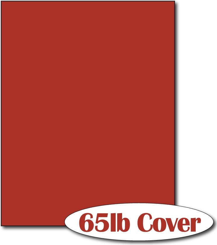 "65 lb Rocket Red CardStock , size A6, measure (8 1/2"" x 11"") , compatible with copier, inkjet and laser , Matte Both sides"