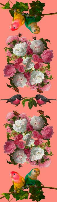Love Birds with Peonies