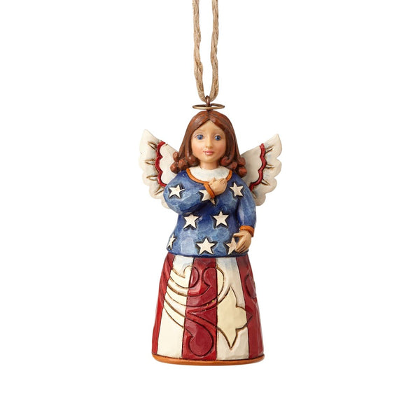 Jim Shore Patriotic Angel Mini Ornament 4058838