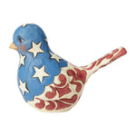 Jim Shore Red, White & Blue Bird 6003978