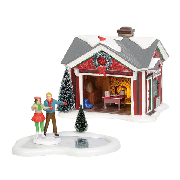 D56 Snow Village Holiday Skating Party 6004814 PRE-ORDER
