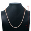"14K Yellow Gold 23"" Men's Necklace With 35.50 CT Diamonds"