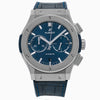 Hublot Classic Fusion Chronograph 541.NX.7170.LR 42MM Blue Dial With Leather Bracelet