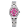 Rolex Oyster Perpetual Lady Date 6924 26MM Pink Diamond Dial With Stainless Steel Bracelet