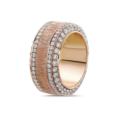 Ladies 18k Rose Gold With 2.62 CT Wedding Band