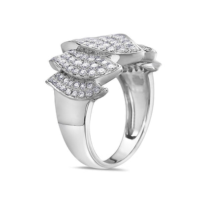 Ladies 18k White Gold With 1.28 CT Right Hand Ring