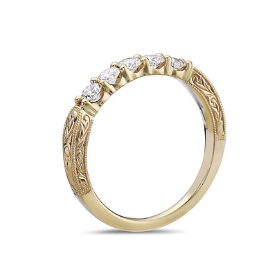 Ladies 18k Yellow Gold With 0.49 CT Diamonds Wedding Band