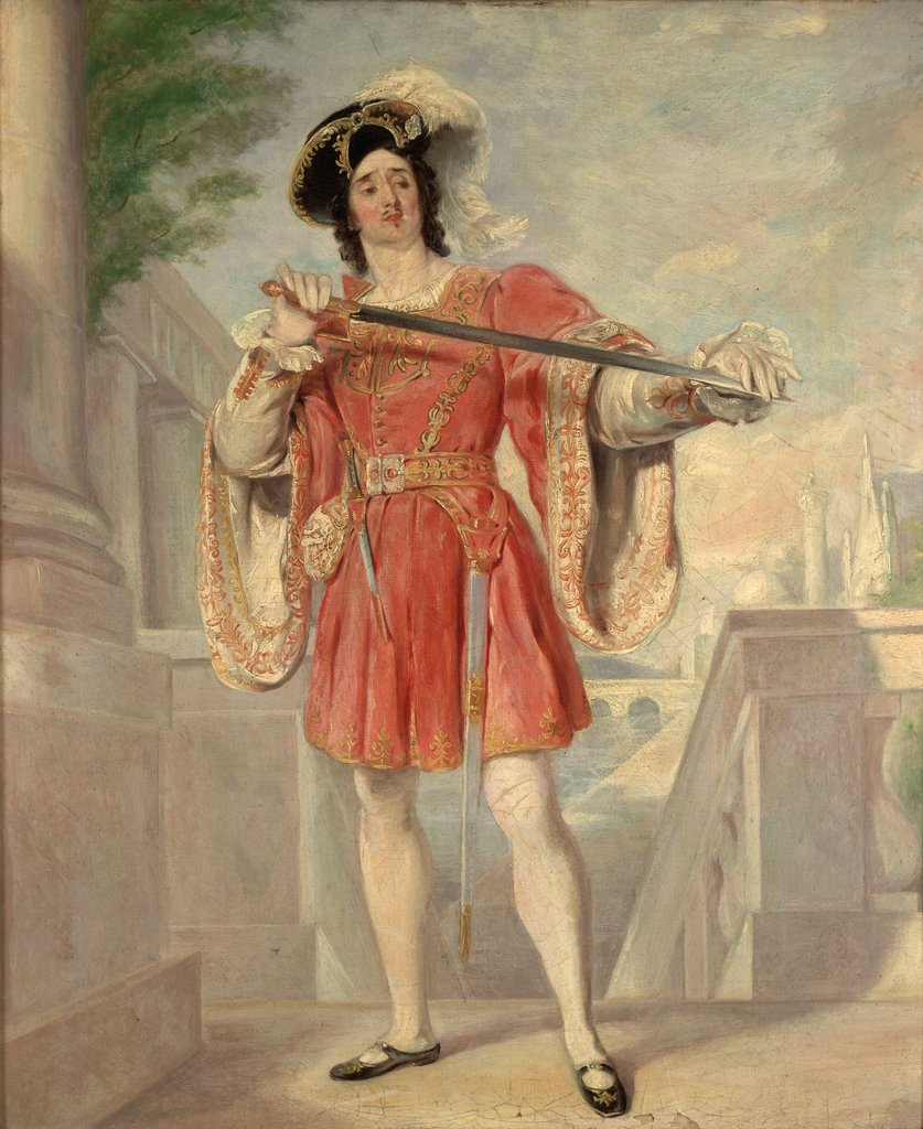 Detail of James William Wallack (c. 1794-1864) as Mercutio. Romeo and Juliet, Act III, Sc.i by Nicolas Jospeh Crowley