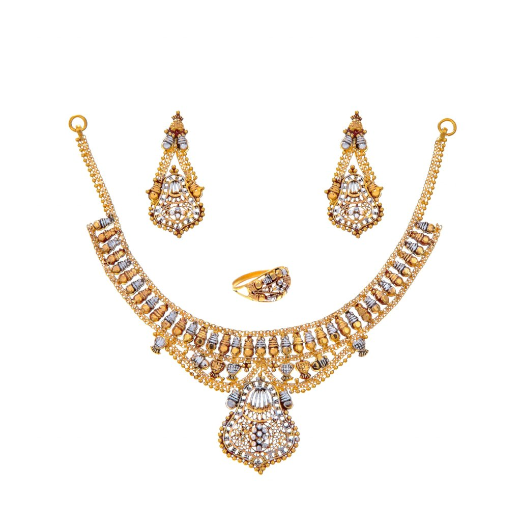 Tri-polish 22k gold bridal set
