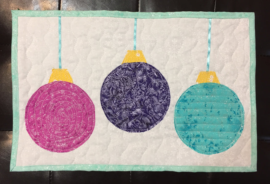 The Second (of two) Holiday Ornament Table Runners