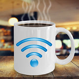 Wifi Funny Color Changing Thermometer Heat Cup Sensitive Porcelain Tea Coffee 11oz Magic Mug for BFF, Friend, coworker/Boss, Secret Santa/birthday, Wife/girlfriend
