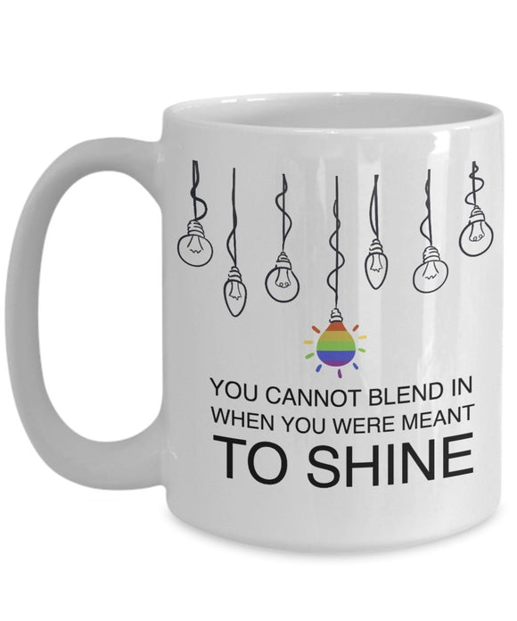 Autism Inspirational Coffee Mug - You Cannot Blend In When You Were Meant To Shine - Best gift for Friend,coworker,Boss,Secret Santa,birthday, Husband,Wife,girlfriend,boyfriend (White)