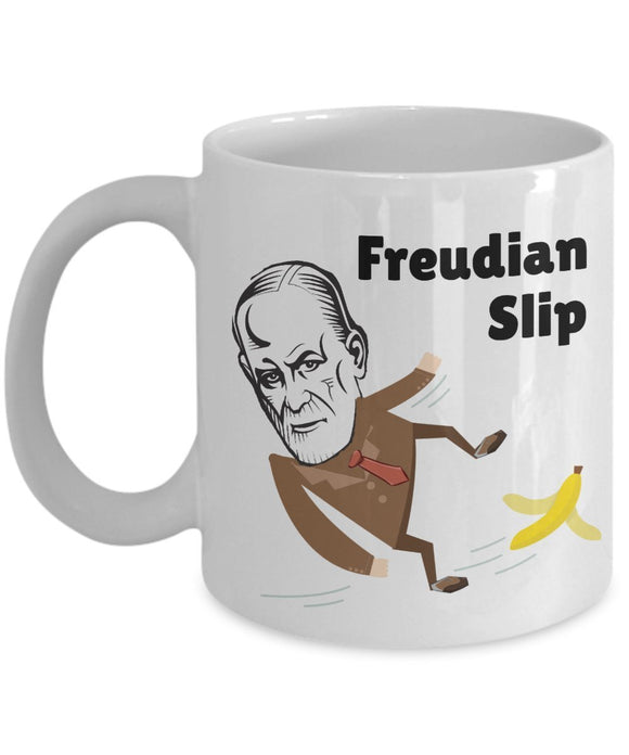 Psychologist Funny Coffee Mug - Best Gift For Friend,Coworker,Boss,Secret Santa,Birthday,Husband,Wife,Girlfriend,Boyfriend (White) - Freudian Slip