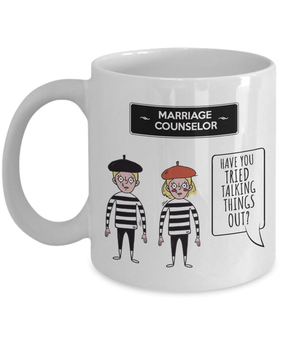 Psychologist Funny Coffee Mug - Best Gift For Friend,Coworker,Boss,Secret Santa,Birthday,Husband,Wife,Girlfriend,Boyfriend (White) - Have You Tried Talking Things Out
