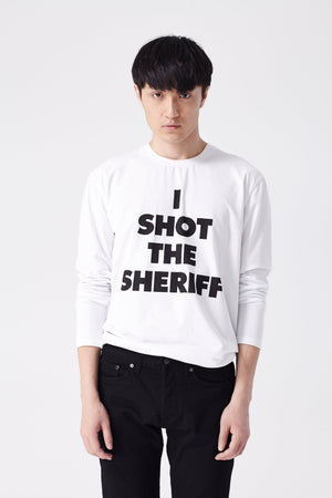 I Shot The Sheriff Long Sleeve Tee (White) - L'école Des Femmes