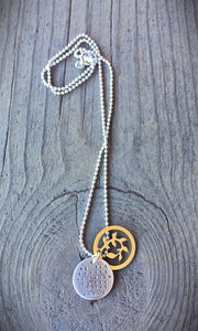 """Be the change you wish to see in the world"" Necklace"