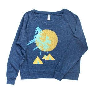 Camping Screen Printed Long Sleeved Pullover