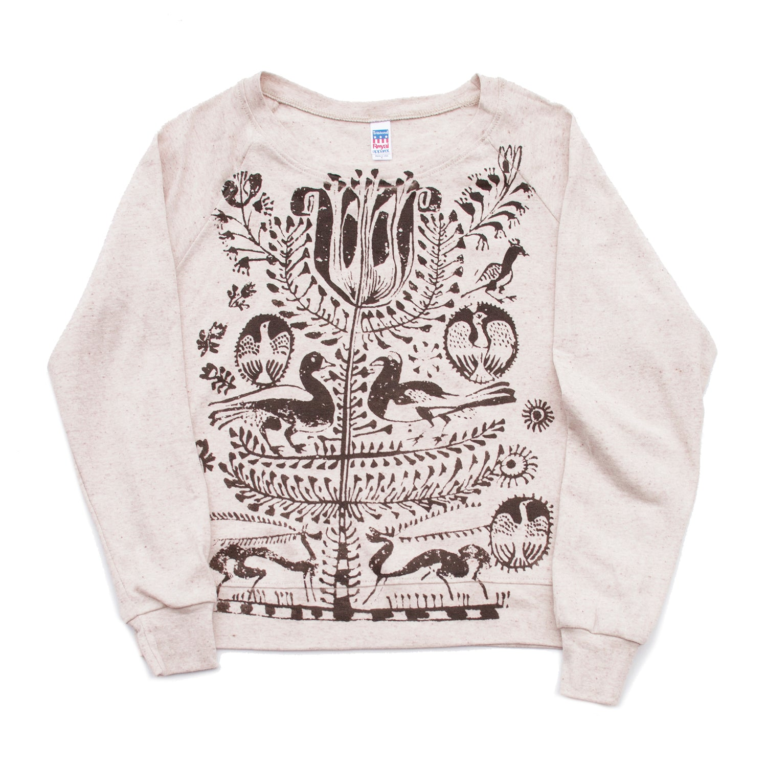 Tree of Life Screen Printed Long Sleeved Pullover